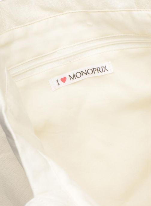 Handtaschen Monoprix Femme TOTE BAG I LOV MONOPRIX weiß ansicht von hinten