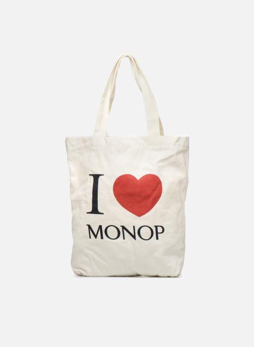 Sacs à main Monoprix Femme TOTE BAG I LOV MONOPRIX Blanc vue détail/paire