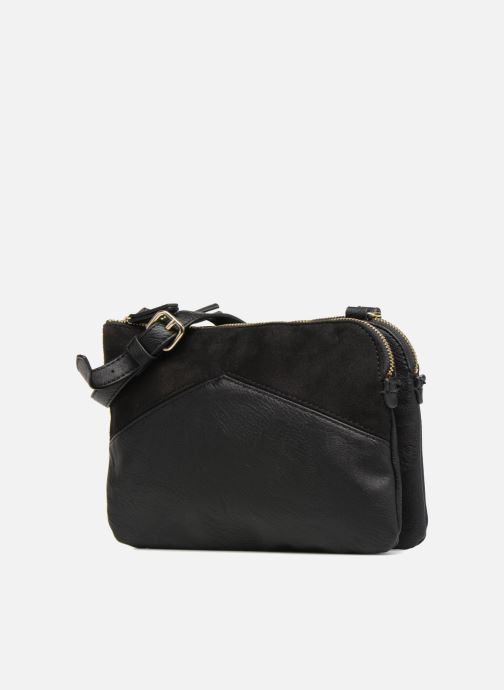 Handtassen Monoprix Femme CROSSBODY PU 2 ZIP BI MATIERE Zwart model
