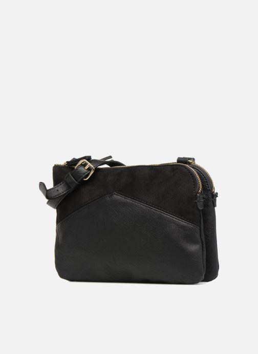 Sacs à main Monoprix Femme CROSSBODY PU 2 ZIP BI MATIERE Noir vue portées chaussures