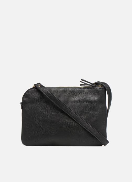Handtassen Monoprix Femme CROSSBODY PU 2 ZIP BI MATIERE Zwart voorkant