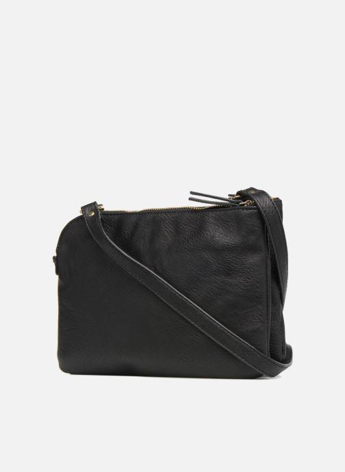 Handtassen Monoprix Femme CROSSBODY PU 2 ZIP BI MATIERE Zwart rechts