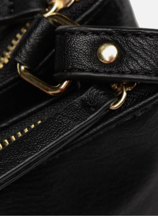 Handtassen Monoprix Femme CROSSBODY PU 2 ZIP BI MATIERE Zwart links