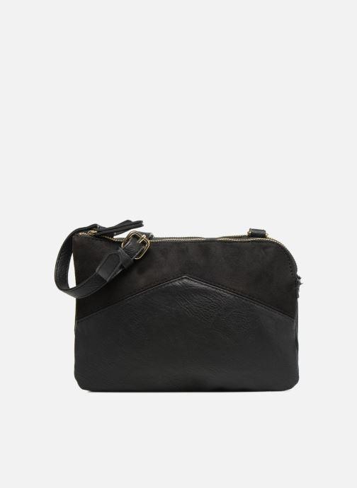 Handtassen Monoprix Femme CROSSBODY PU 2 ZIP BI MATIERE Zwart detail
