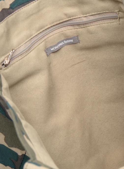 Handtassen Monoprix Femme TOTE BAG CAMOUFLAGE Groen achterkant