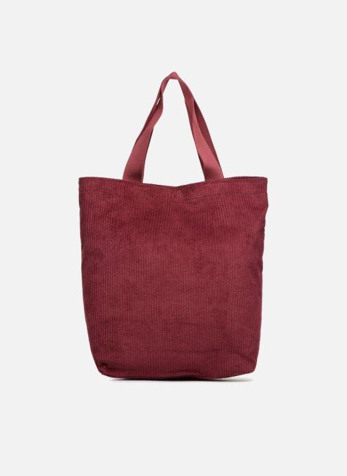 Bolsos de mano Monoprix Femme TOTE BAG VELOURS Rojo vista de frente