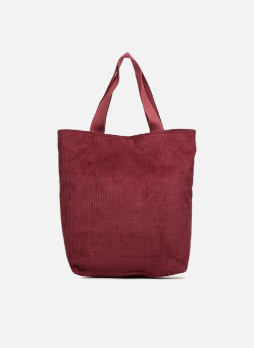 Sacs à main Monoprix Femme TOTE BAG VELOURS Rouge vue face
