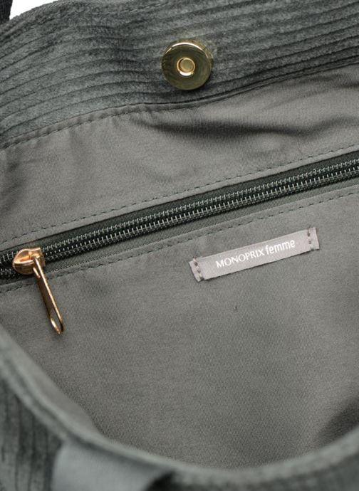 Borse Monoprix Femme TOTE BAG VELOURS Verde immagine posteriore
