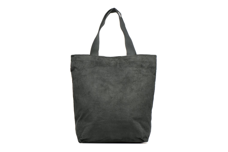 Sacs à main Monoprix Femme TOTE BAG VELOURS Vert vue face
