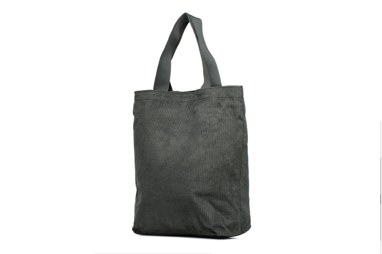 Sacs à main Monoprix Femme TOTE BAG VELOURS Vert vue droite