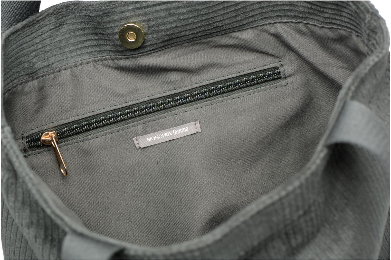 Sacs à main Monoprix Femme TOTE BAG VELOURS Vert vue derrière