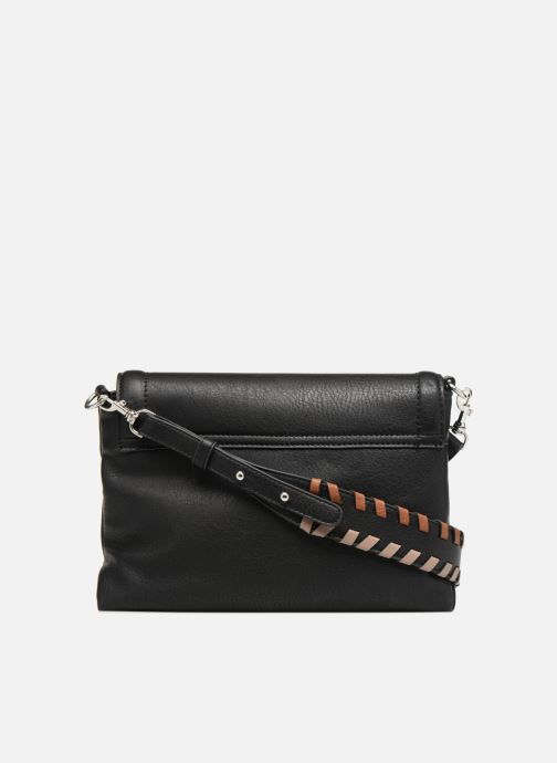 Handtassen Monoprix Femme CROSSBODY PU ANSE FANTAISIE Zwart voorkant
