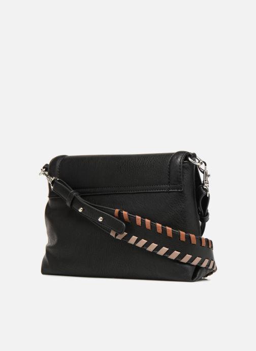 Handtassen Monoprix Femme CROSSBODY PU ANSE FANTAISIE Zwart rechts