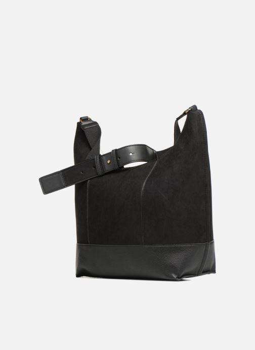 Sacs à main Monoprix Femme BESACE PORTE EPAULE Noir vue portées chaussures