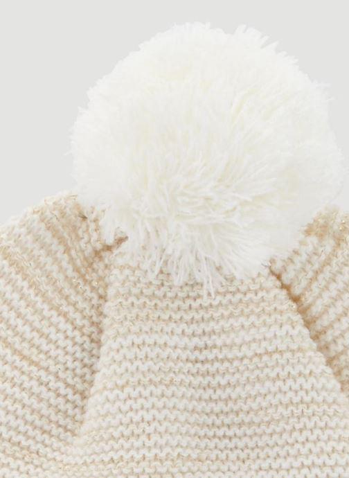 Bonnets Monoprix Kids Bonnet point mousse Blanc vue portées chaussures