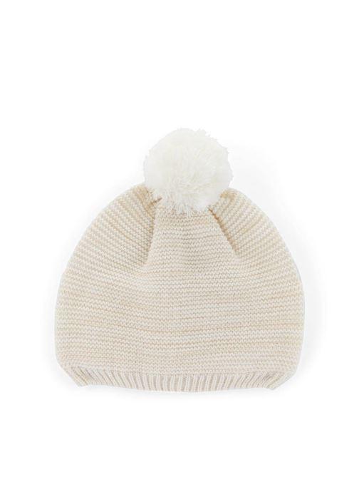 Bonnets Monoprix Kids Bonnet point mousse Blanc vue détail/paire