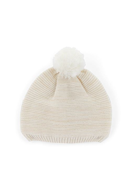 Bonnets Monoprix Kids Bonnet point mousse Blanc vue détail/paire