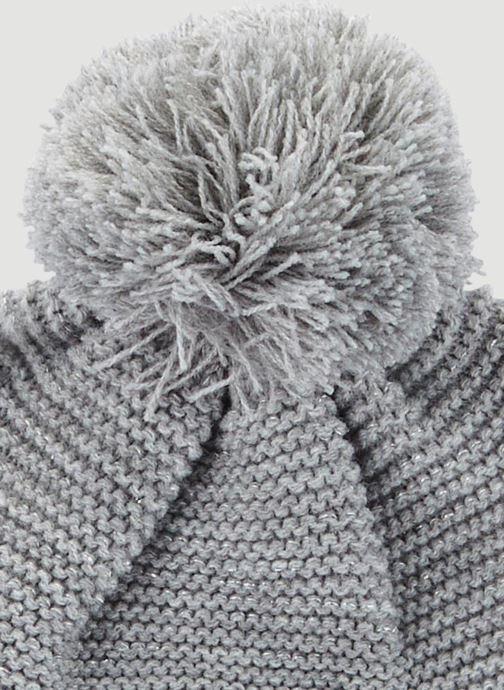 Mütze Monoprix Kids Bonnet point mousse grau schuhe getragen