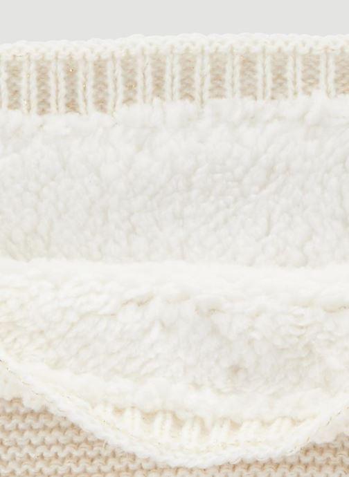 Sciarpa y foulard Monoprix Kids Tour du cou point mousse Bianco modello indossato
