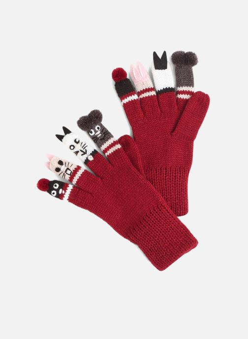 Gloves Monoprix Kids GANTS MARIONNETTES Red detailed view/ Pair view