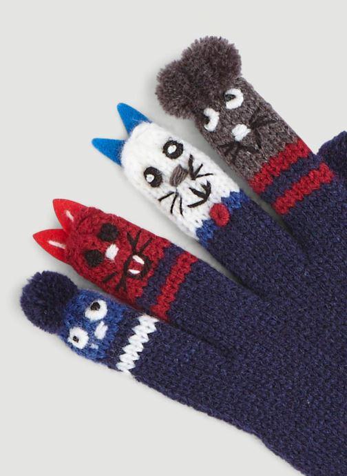 Handschuhe Monoprix Kids GANTS MARIONNETTES blau schuhe getragen