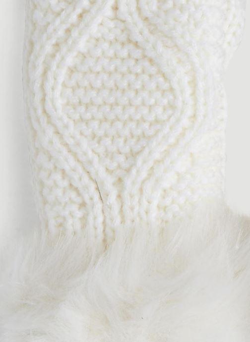 Handschuhe Monoprix Kids MOUFLE TORSADE weiß schuhe getragen