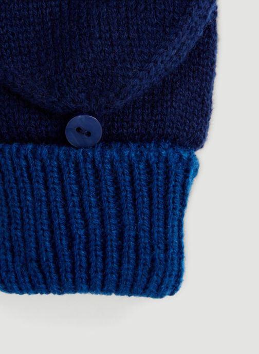 Gants Monoprix Kids MITAINE BICOLORE Bleu vue portées chaussures