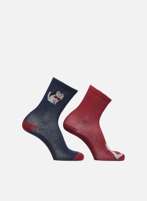 Socken & Strumpfhosen Monoprix Kids LOT DE 2 CHAUSSETTES CHAT NŒUD blau detaillierte ansicht/modell