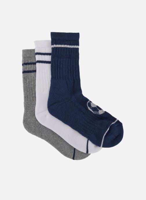 Chaussettes et collants Monoprix Kids LOT DE 3 CHAUSSETTES SPORT GARCON Bleu vue portées chaussures
