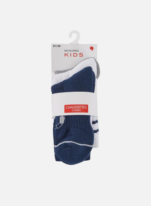 Chaussettes et collants Monoprix Kids LOT DE 3 CHAUSSETTES SPORT GARCON Bleu vue détail/paire