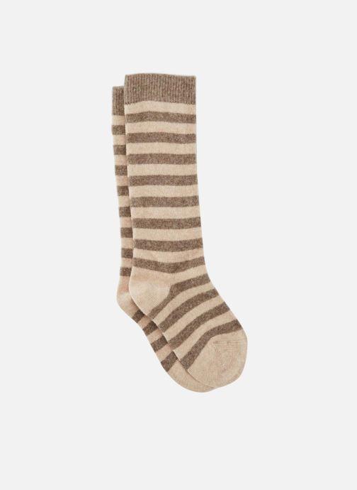 Socks & tights Monoprix Kids Chaussettes hautes rayées Beige detailed view/ Pair view