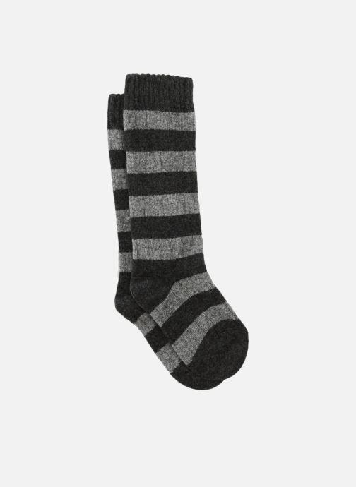 Sokken en panty's Monoprix Kids Chaussettes hautes rayées Grijs detail