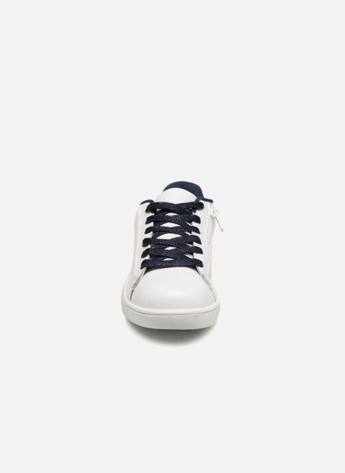 Baskets Monoprix Kids TENNIS BRILLANTE Blanc vue portées chaussures
