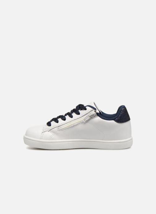 Sneaker Monoprix Kids TENNIS BRILLANTE weiß ansicht von vorne