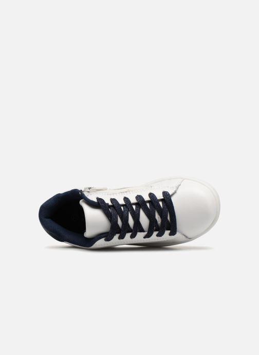 Sneaker Monoprix Kids TENNIS BRILLANTE weiß ansicht von links