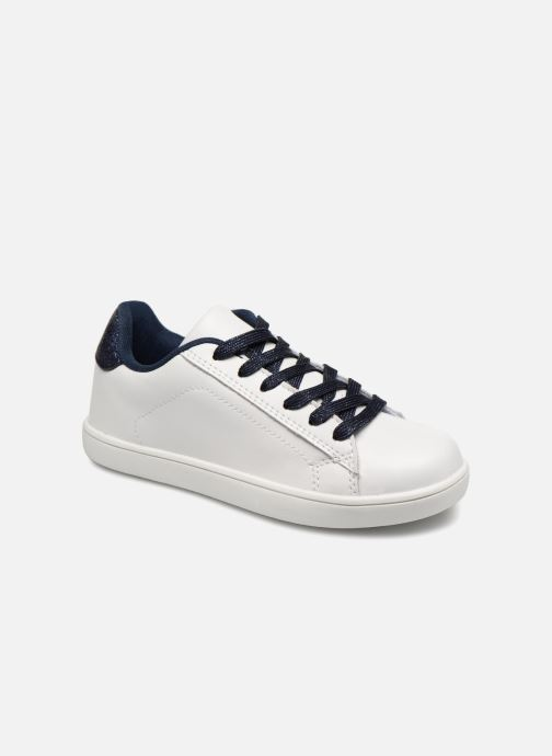 Trainers Monoprix Kids TENNIS BRILLANTE White detailed view/ Pair view