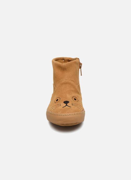 Bottines et boots Monoprix Kids BOTTINE CHAT Marron vue portées chaussures