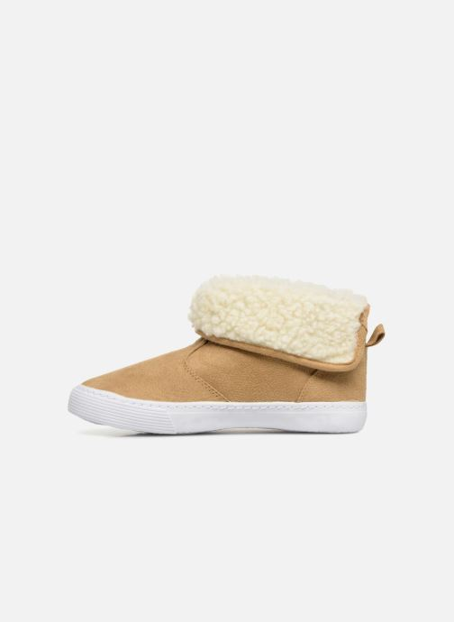 Trainers Monoprix Kids BASKET FOURREE Beige front view