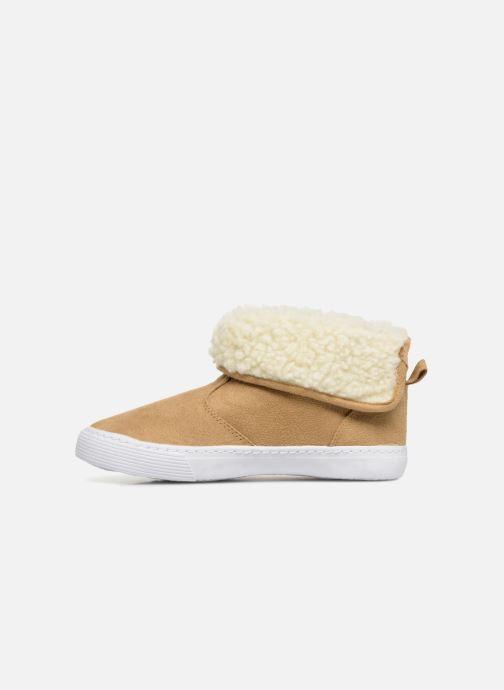 Sneakers Monoprix Kids BASKET FOURREE Beige voorkant