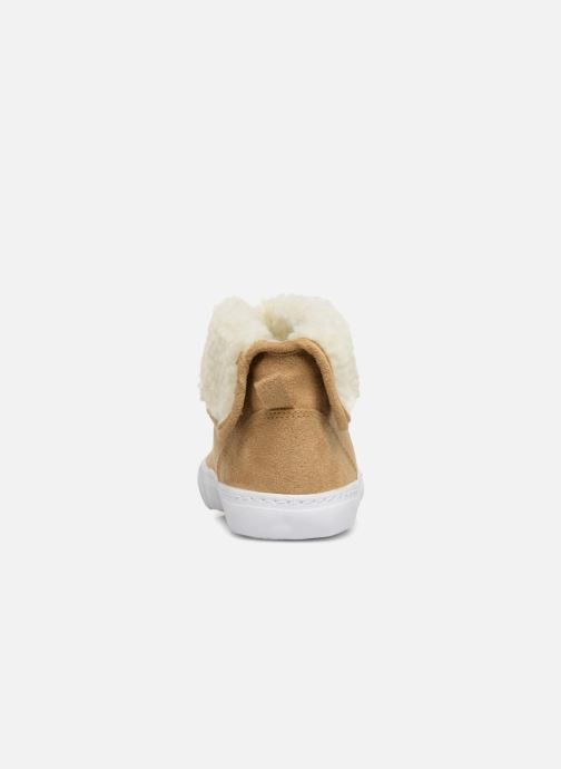 Trainers Monoprix Kids BASKET FOURREE Beige view from the right