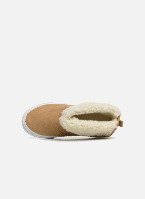 Trainers Monoprix Kids BASKET FOURREE Beige view from the left