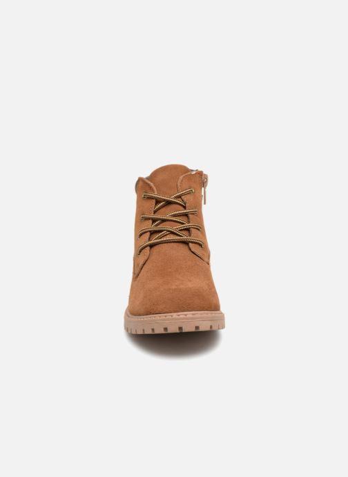 Bottines et boots Monoprix Kids CHAUSSURE MONTANTE GARCON Marron vue portées chaussures