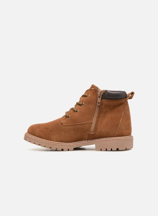 Ankle boots Monoprix Kids CHAUSSURE MONTANTE GARCON Brown front view