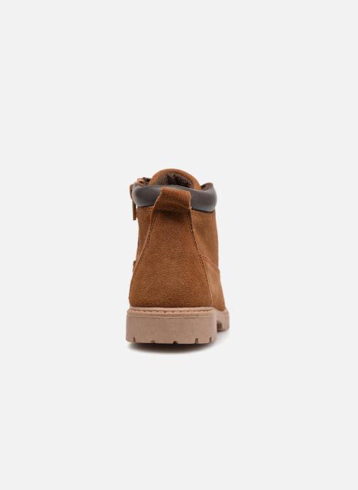 Bottines et boots Monoprix Kids CHAUSSURE MONTANTE GARCON Marron vue droite