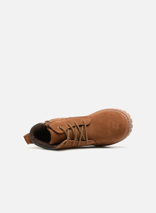Ankle boots Monoprix Kids CHAUSSURE MONTANTE GARCON Brown view from the left