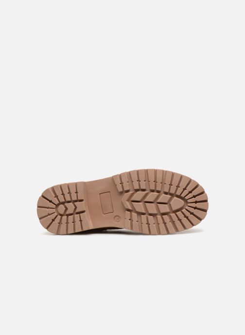 Ankle boots Monoprix Kids CHAUSSURE MONTANTE GARCON Brown view from above