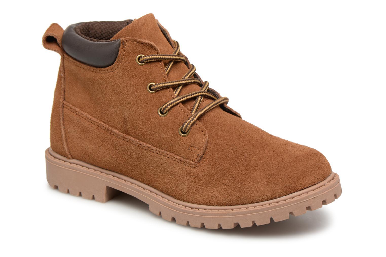 Bottines et boots Monoprix Kids CHAUSSURE MONTANTE GARCON Marron vue détail/paire