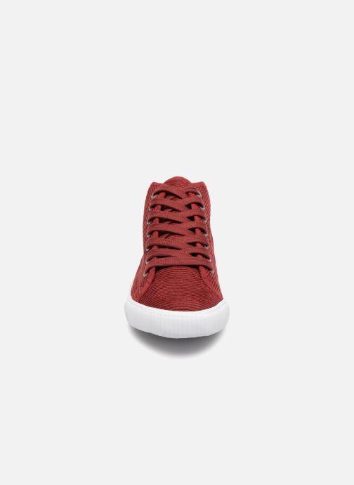 Baskets Monoprix Kids CHAUSS MONTANTE VELOURS Marron vue portées chaussures