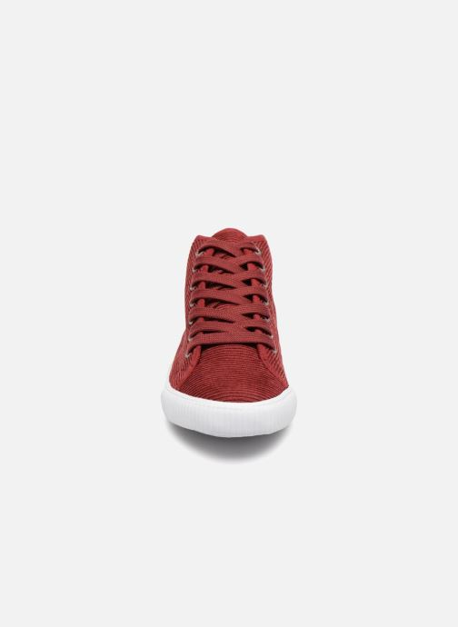 Trainers Monoprix Kids CHAUSS MONTANTE VELOURS Brown model view