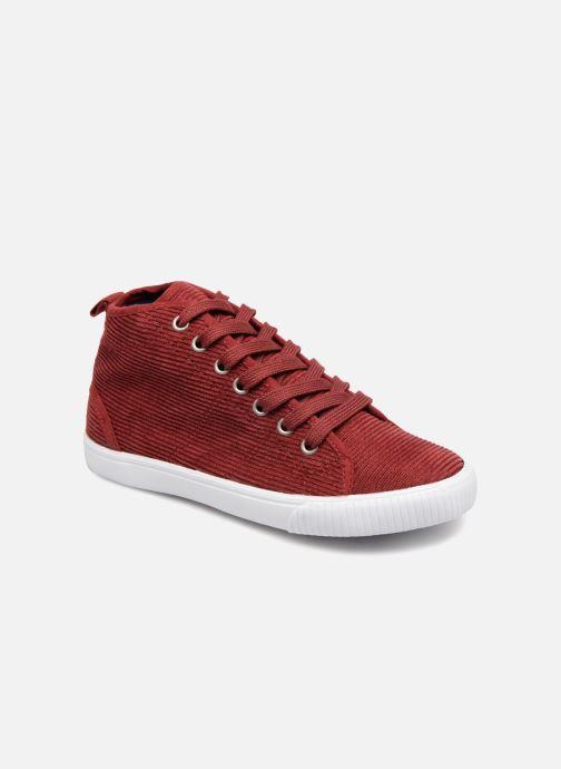 Sneakers Monoprix Kids CHAUSS MONTANTE VELOURS Brun detaljeret billede af skoene